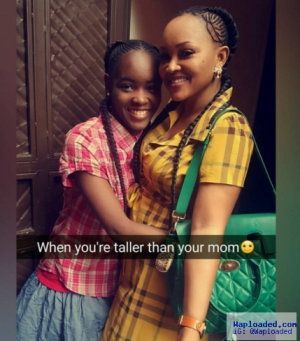 Mercy Aigbe and her daughter rock same hairstyle (photo)